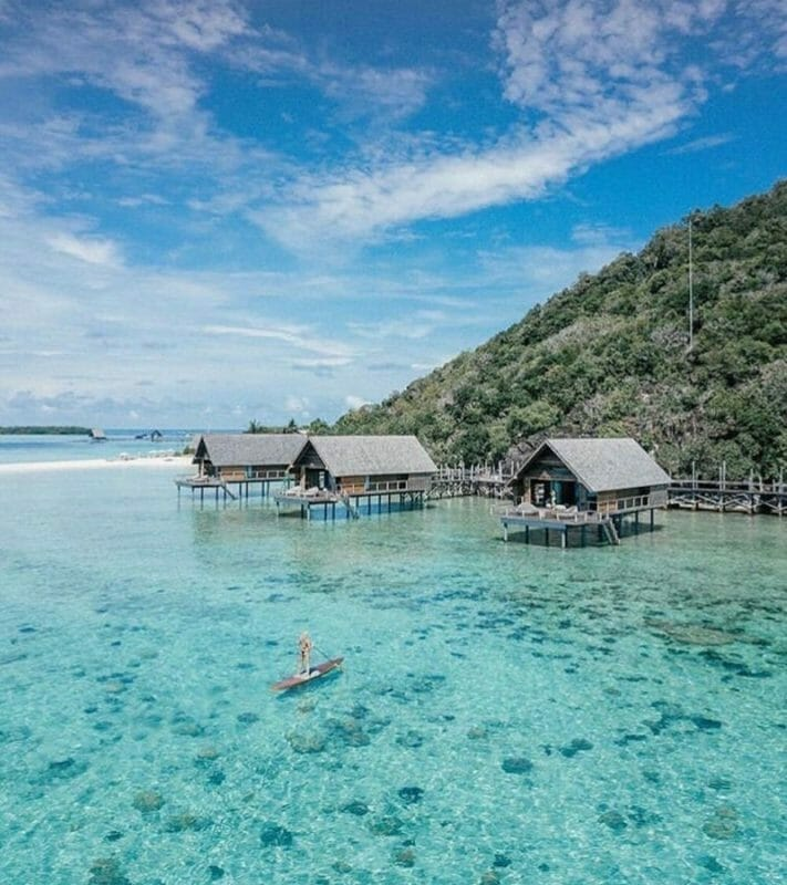 overwater bungalows indonesia
