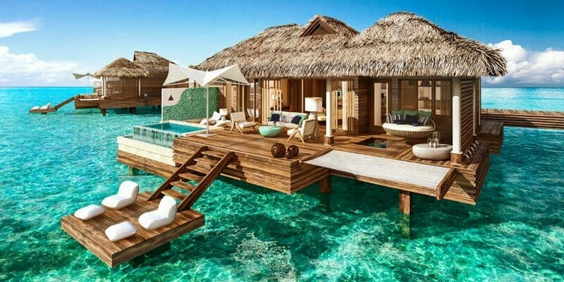 overwater bungalows usa