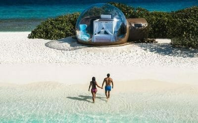 Sleep Under The Stars in These Beach Bubbles