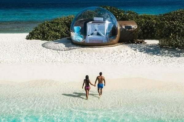 beach bubble maldives