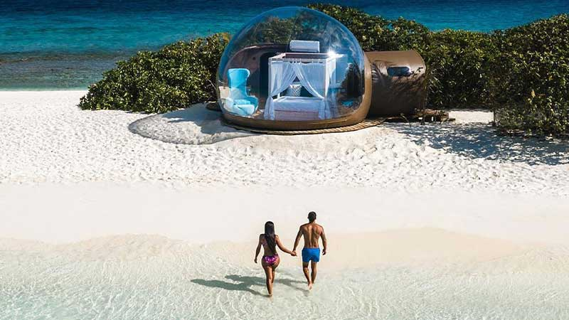 Sleep Under The Stars in These Beach Bubble Tents
