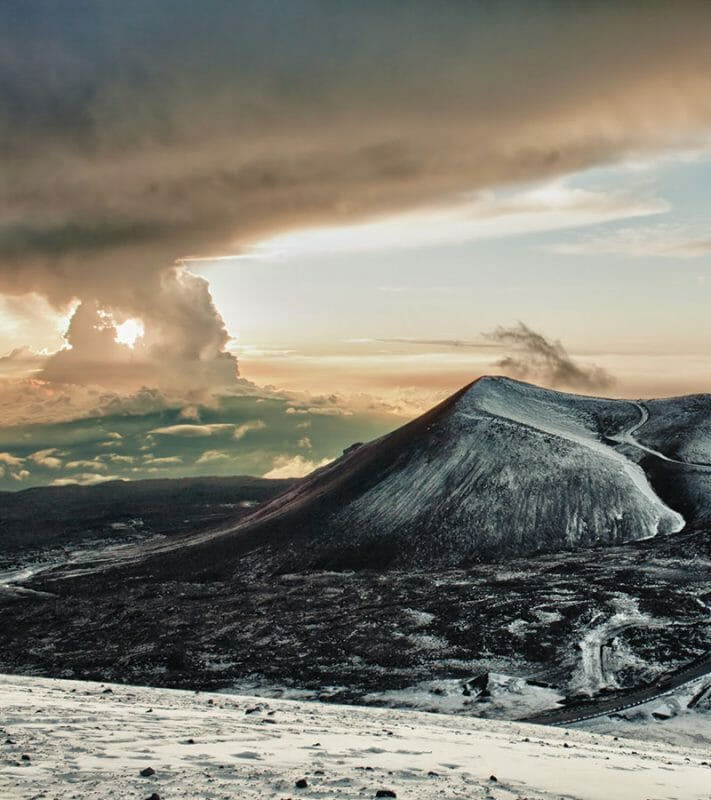 Snow on Mauna Kea, Hawaii
