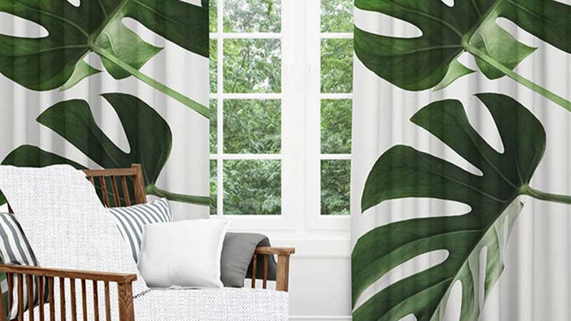 10 Gorgeous Tropical Print Curtains For Your Living Space